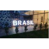 fachada com frontlight em São José do Rio Preto