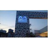 letreiros para fachadas comerciais no Guarujá