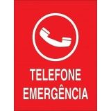 placas de sinalização de emergência preço em Dourado