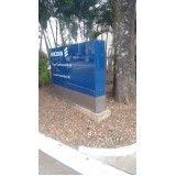 quanto custa placas de sinalização para empresas em Santa Cecília